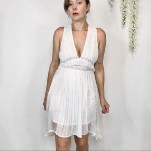 "NWT FOXIEDOX ""Babette"" lace slip dress cutout 1283"